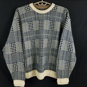 Vintage Ralph Lauren Chaps Houndstooth Sweater